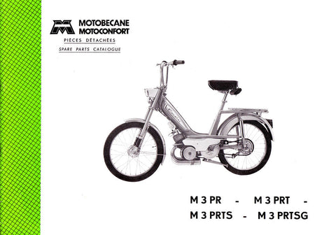 Mobylette Cady M3PR - PRT - PRTS - PRTSG Spare Parts Manual in French on CD