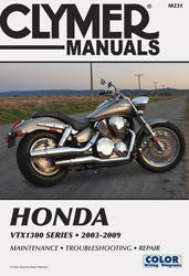 Clymer Manuals Honda VTX1300 Series 2003-2009 M231