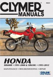 Clymer Manuals Honda XR600R, 1991-2000 & XR650L 1993-2012 (Online Version 1991-2007) M221