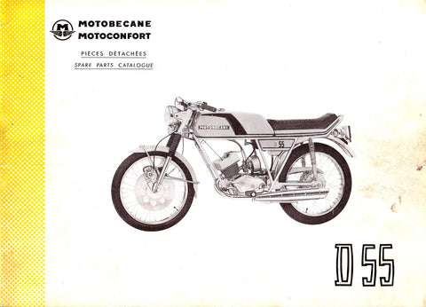 Mobylette Motobecane Moped D55 Spare Parts Manual in French on CD