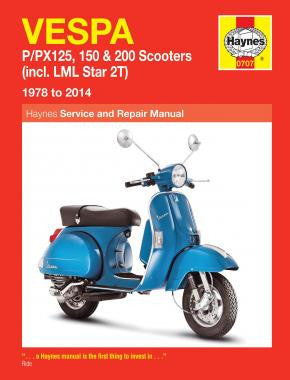 Haynes Manual Vespa P/PX125, 150 & 200 Scooters