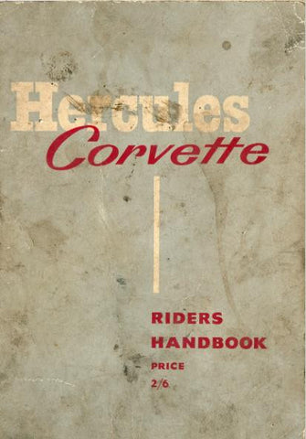 Hercules Corvette Riders Handbook on CD