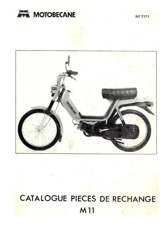 Mobylette Motobecane Moped M11 Spare Parts Manual in French on CD