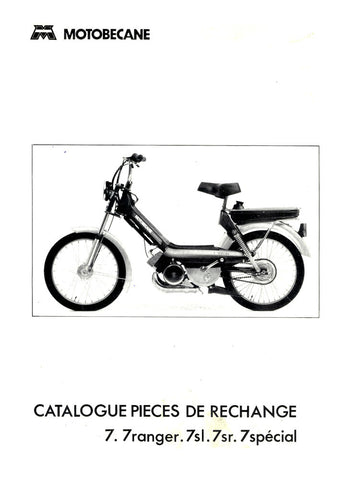 Mobylette M7 7 ranger 7sl 7sr 7 spécial Spare Parts Manual in French on CD