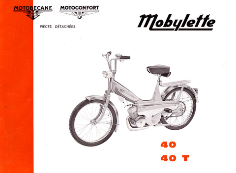 Mobylette Motobecane Moped 40-40T Spare Parts Manual in French DOWNLOAD