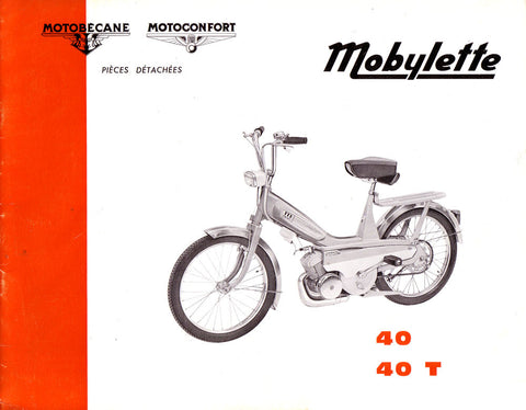 Mobylette Motobecane Moped 40-40T Spare Parts Manual in French on CD