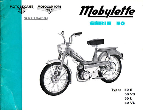 Mobylette Moped Series 50,50S,50VS,50L,50VL (In French) Parts Book with Diagrams DOWNLOAD COPY