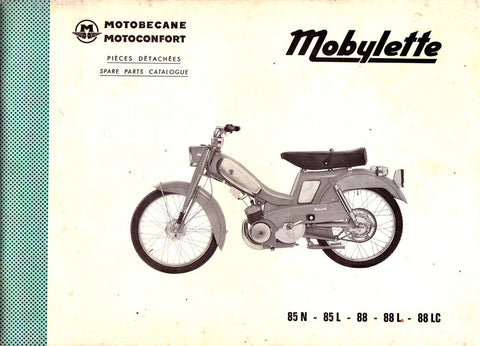 Mobylette Motobecane Moped 85-88 Spare Parts Manual in French on CD
