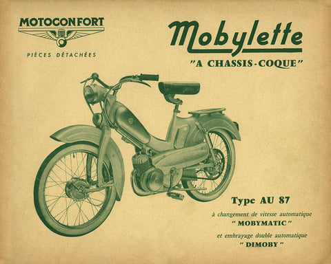 Mobylette Motobecane Moped AU87 Balancier Spare Parts Manual in French on CD