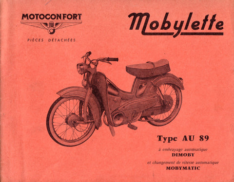 Mobylette Motobecane Moped AU89 Balancier Spare Parts Manual in French DOWNLOAD
