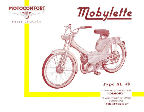 Mobylette Motobecane Moped AU48 Spare Parts Manual in French on CD