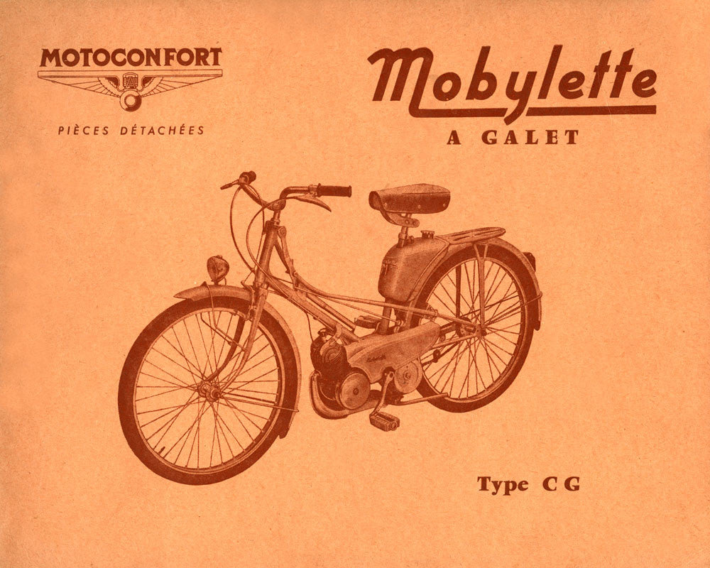 Mobylette Motobecane Moped CG Spare Parts Manual in French on CD