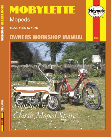 Copy of NEW Haynes Manual Mobylette Moped Models  H40TL / H40TS / H40TLC  for Workshop Service