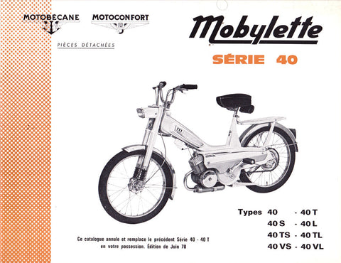 Mobylette Motobecane Moped Series 40 Spare Parts Manual in French DOWNLOAD