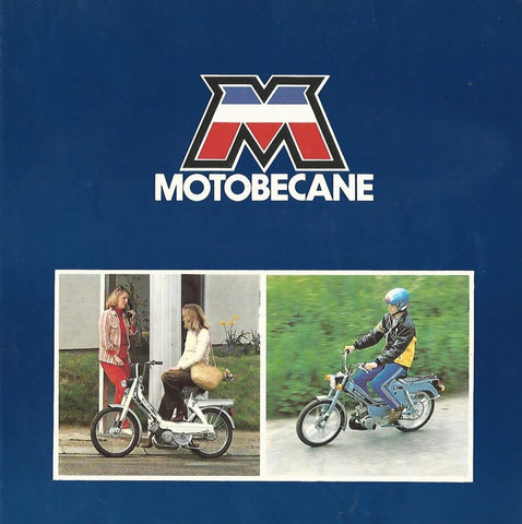 Mobylette Motobecane 51V-51VSB-51VLCB-51SU-7TL-7SP Dealers Sales Brochure in Colour