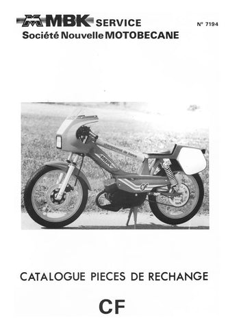 Mobylette Motobecane Moped 51CF Spare Parts Manual in French on CD