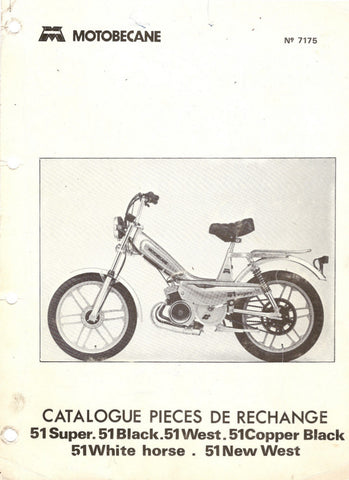 Mobylette Motobecane Moped 51 Choppers Spare Parts Manual in French on CD
