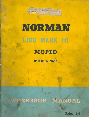 Norman Lido Mark III Moped NM2 Workshop Manual on CD