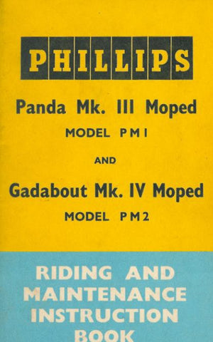 Phillips Panda Mk III PM1 & Gadabout Mark IV PM2 Riding & Maintenance Book DOWNLOAD COPY
