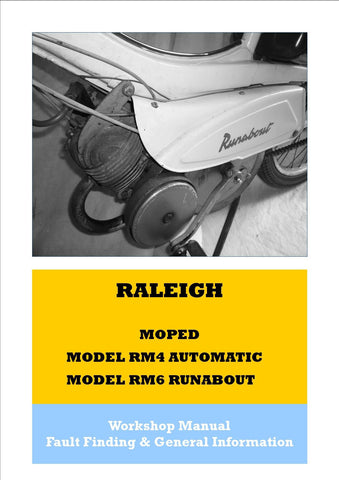 Raleigh RM4 Automatic & RM6 Runabout Workshop Manual on CD