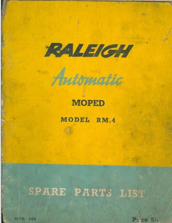 Raleigh Automatic RM4 Spare Parts List on CD