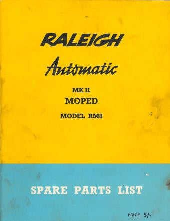Raleigh Automatic RM8 Spare Parts List DOWNLOAD COPY
