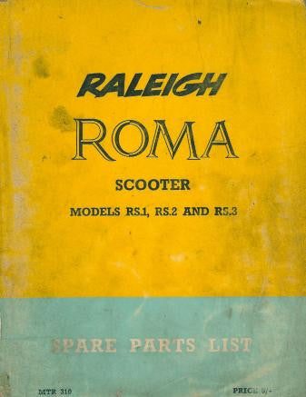 Raleigh Roma RS1 RS2 RS3 Spare Parts List DOWNLOAD COPY