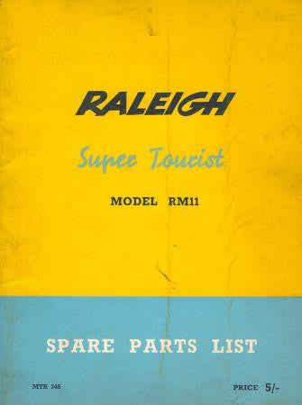 Raleigh Super Tourist RM11 Spare Parts List on CD
