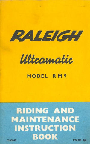 Raleigh Ultramatic RM9 Riding & Maintenance Instructions Book DOWNLOAD COPY
