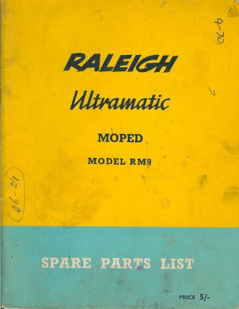Raleigh Ultramatic RM9 Spare Parts List DOWNLOAD COPY