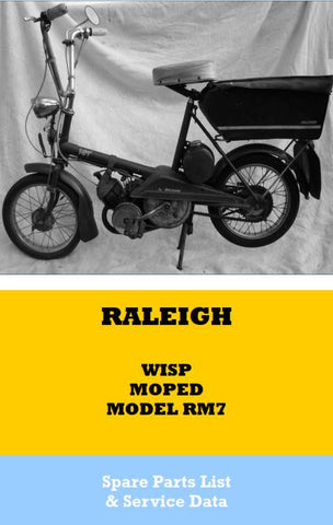 Raleigh Wisp RM7 Spare Parts List and Service Data Book on CD