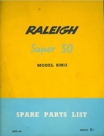 Raleigh Super 50 RM12 Spare Parts List on CD