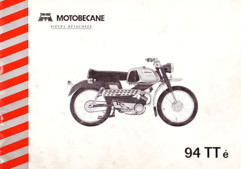 Mobylette Motobecane Moped SP94TTé Spare Parts Manual in French on CD