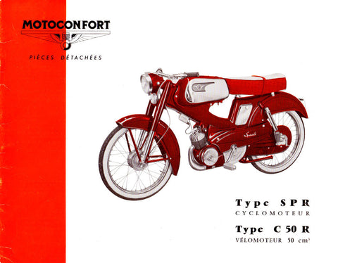Mobylette Motobecane Moped SPR - C50R Spare Parts Manual in French on CD