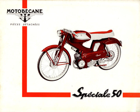 Mobylette Motobecane Spéciale/Special 50 Spare Parts Manual in French on CD