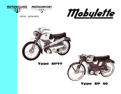 Mobylette Motobecane Moped SPTT - SP50 Spare Parts Manual in French on CD