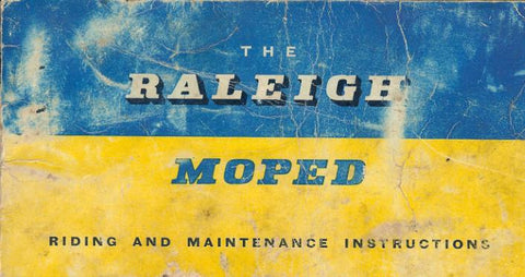 Raleigh RM1 and RM Riding, Maintenance and Instruction Handbook on CD