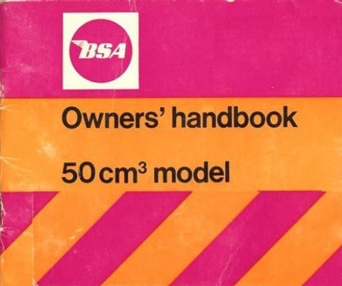 BSA Ariel 3/Three 50CM3 Owners Handbook DOWNLOAD COPY