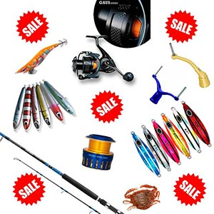 Fishing Sale - Lures, Rods, Reels, Jigs, Egi, Squid Jigs, Soft Plastics, Jigs, Hooks, Sinkers