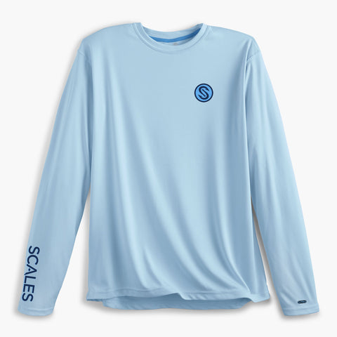 Scales Gear Pro Performance Team Scales Crew Light Blue Shirt - Front View