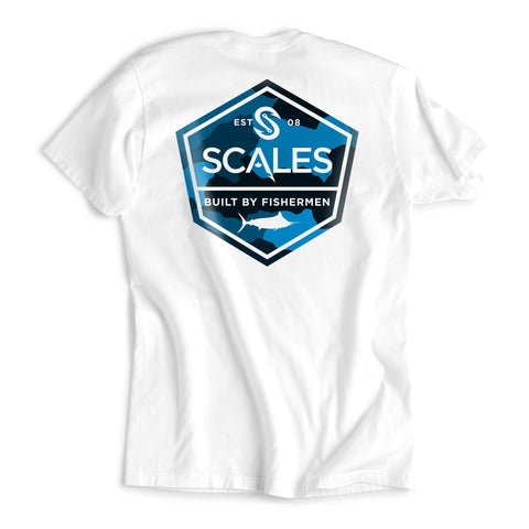 Scales Gear Scales Built Tee White - Front View