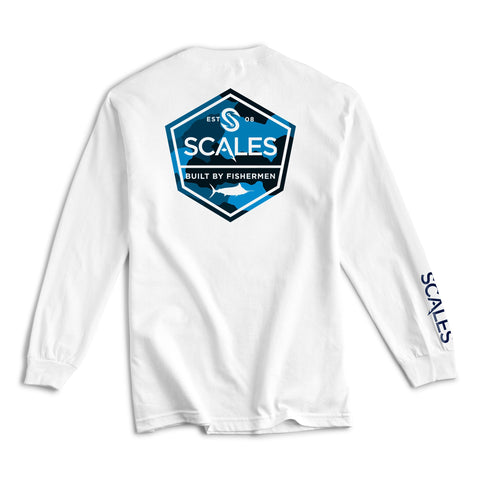 Scales Gear Scales Built Long Sleeve White Shirt - Front View