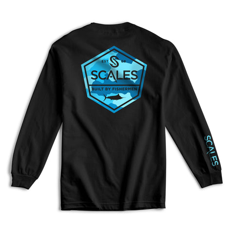 Scales Gear Scales Built Long Sleeve Tee Black - Front View