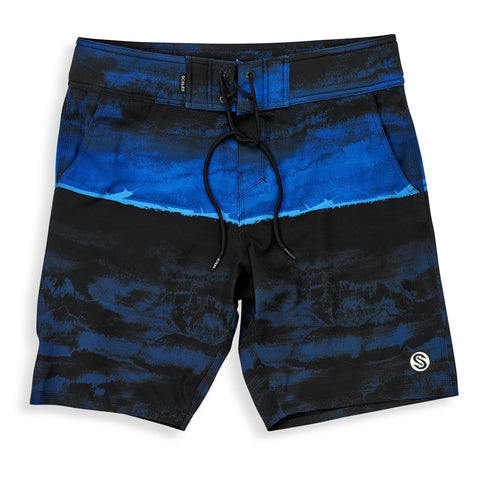 Scales Gear First Mates Boardshorts In The Spread Electric Blue - Front View