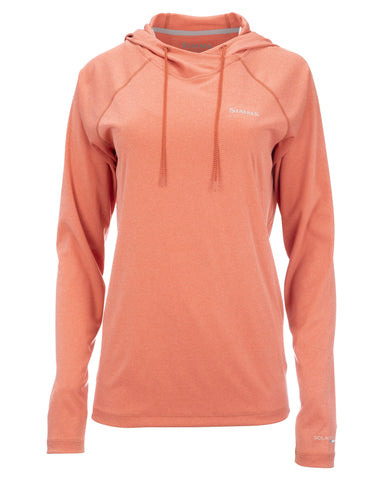 Simms Womens Solarflex Hoody Smoked Salmon Heather