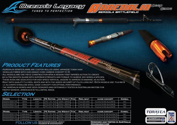 Ocean's Legacy Adrenalin Deep Game - Compleat Angler Nedlands Pro Tackle