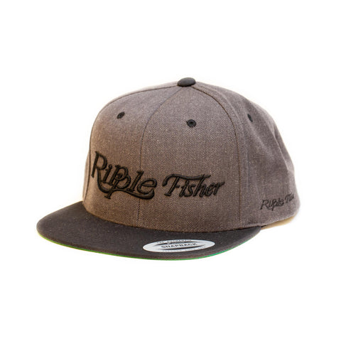 Ripple Fisher Snapback Cap Grey  Black Brim