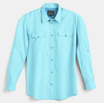 Scales Gear Performance Button Down Slack Tide Mens Saltwater Shirt - Front View