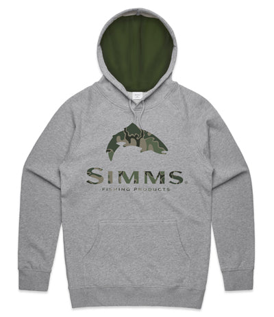 Simms Trout Logo Hoodie Tongass Camo - Compleat Angler Nedlands