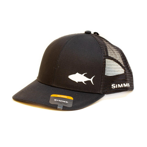 Simms Payoff Trucker Tuna Black Cap - Compleat Angler Nedlands